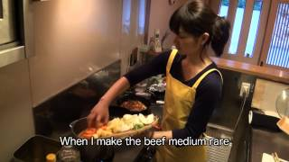 japanese home cooking by a japanese lady meat and potatos