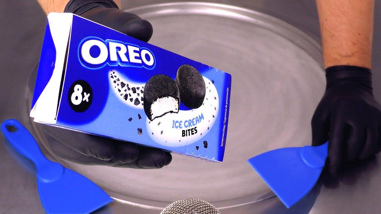 How to make Ice Cream to Ice Cream | OREO Ice Cream Bites become Ice Cream Rolls | fast ASMR