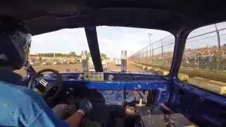 DRIVER GETS LUCKY WHEN TRANSMISSION EXPLODES IN TRUCK AT KENOSHA COUNTY FAIR DEMO 8-17-14