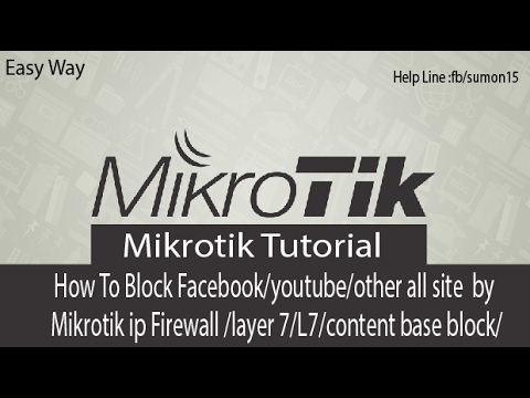 How To Block Fb/yaho/youtube/other Mikrotik Firewall/layer 7/Content base  block-Bangla Tutorial Free