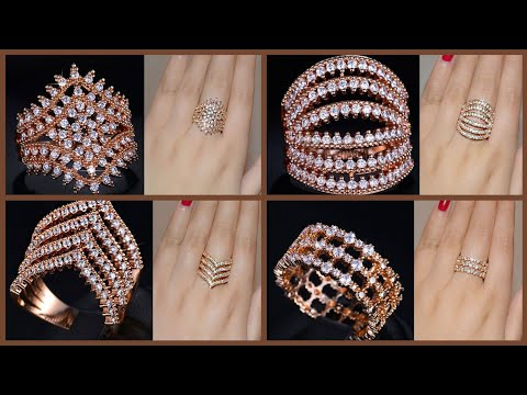 BEAUTIFUL AND UNIQUE ROSE GOLD DIAMOND RINGS FOR ENGAGEMENT /DIAMOND RINGS /ROSE GOLD RUBY RINGS