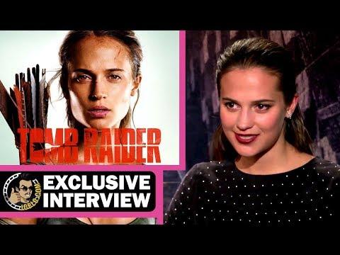 Alicia Vikander, Daniel Wu & Walter Goggins had a blast on TOMB RAIDER! (Interview)