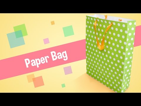 DIY Studio - Craft your own easy to carry paper bag tutorial