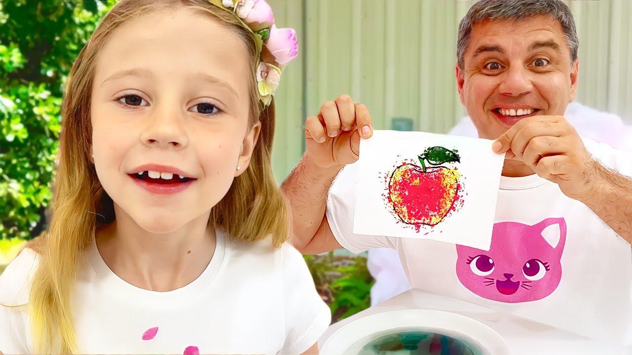 ¡Nastya está aprendiendo a convertirse en científica! Experimentos científicos para niños