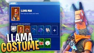 SECRET LLAMA MAN FREE SKIN!? (Collect 100 Loot Llamas) - Fortnite: Battle Royale