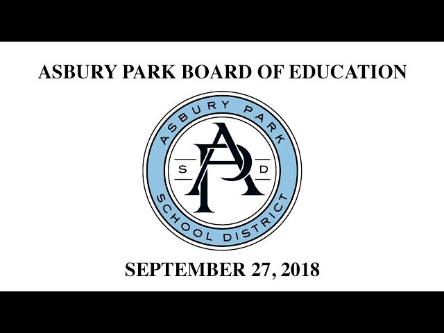 Asbury Park Board of Education - September 27, 2018