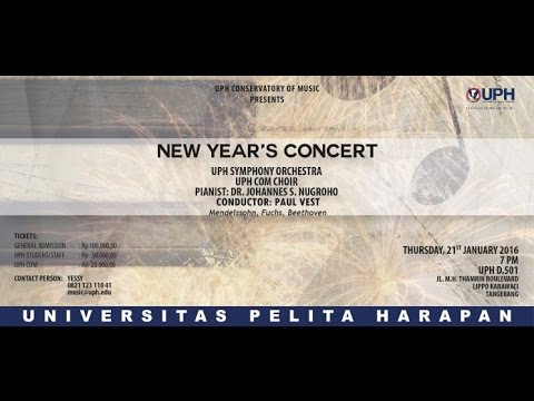 UPH New Year's Concert , Serenade for String Orchestra No.3, Op. 21 - Robert Fuchs (1847 - 1927 )