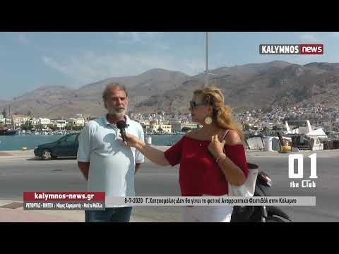 8-7-2020 Γ.Χατζησμάλης:Δεν θα γίνει το φετινό Αναρριχητικό Φεστιβάλ στην Κάλυμνο