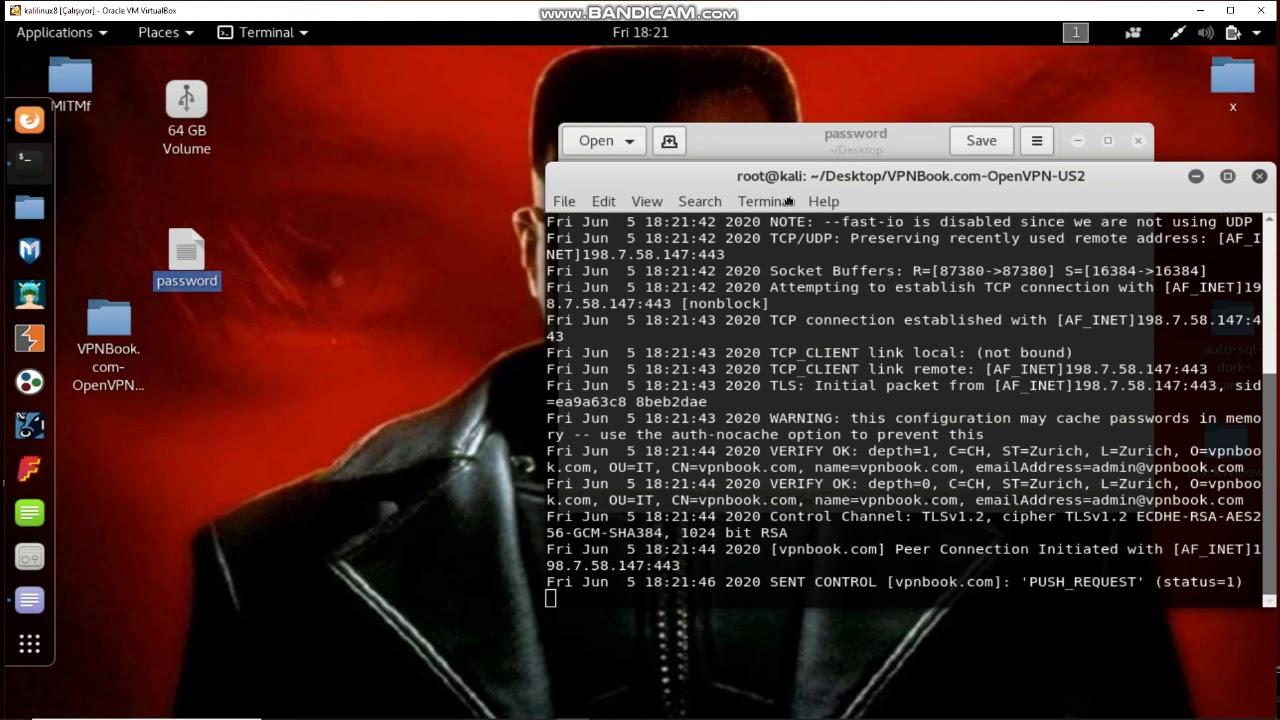 Install free vpn on kali linux