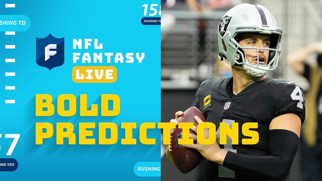 BOLD Fantasy Predictions for Week 7   NFL Fantasy Live