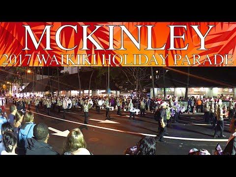 "William McKinley HS ""Tiger"" Band | 2017 Waikiki Holiday Parade"