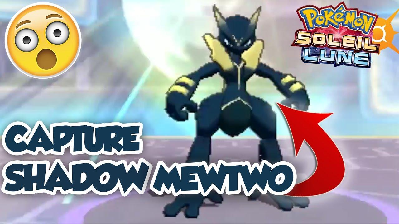 epic capture shadow obscur mewtwo dans pokemon soleil et lune