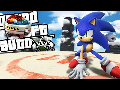 SONIC THE HEDGEHOG RETURNS MOD (GTA 5 PC Mods Gameplay)