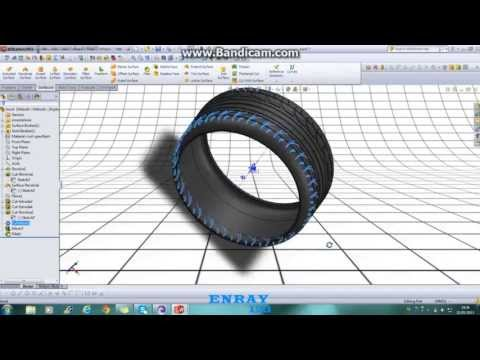 how to make wheel on solidworks