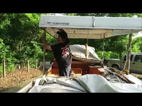 pop up camper roof restore part 1