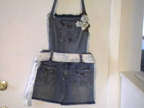 """Ideas para reciclar pantalones """"Delantal"""""""