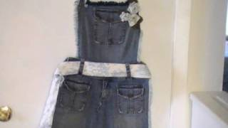 "Ideas para reciclar pantalones ""Delantal"""