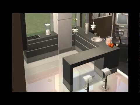 los sims construccin y decoracin de casa moderna cubo white
