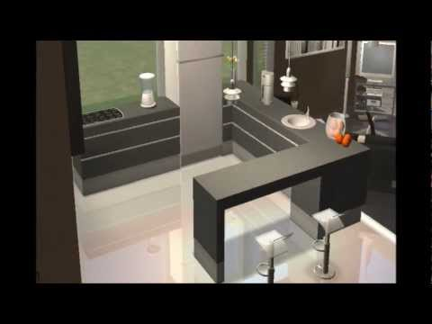 Los sims 2 construcci n y decoraci n de casa moderna for Casa moderna total white