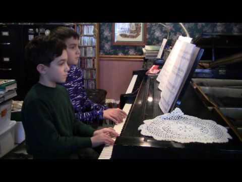 Jingle Bells piano duet PierpontGoldston