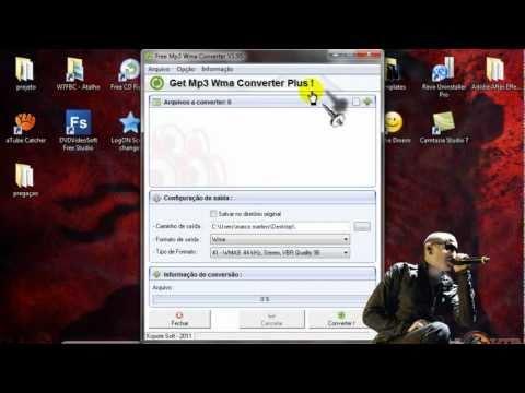 convertendo musicas com o free mp3 wma converter