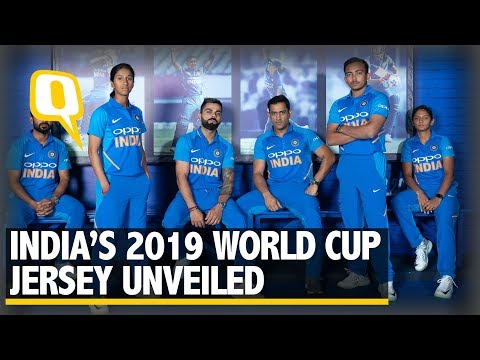 Kohli, Dhoni Unveil Team India's New ODI Jersey Ahead of World Cup 2019 | The Quint