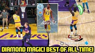 DIAMOND MAGIC JOHNSON! GREATEST POINT GUARD OF ALL TIME! NBA 2K18 MYTEAM GAMEPLAY