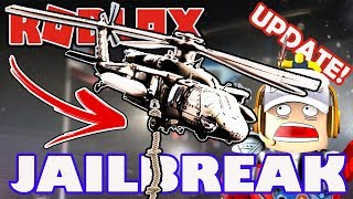 Roblox Jailbreak New UPDATE Stream! - 1 Year Anniversary with Military Heli and Rope, Escape Routes