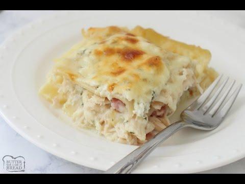 Chicken Cordon Bleu Lasagna Butter With A Side Of Bread