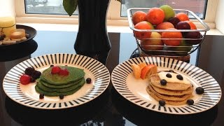 Easy And Healthy Pancakes: Spinach And Oatmeal-banana Pancake