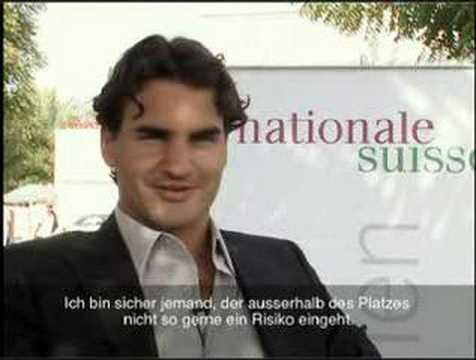 "Roger Federer  Interview Swiss German Ad ""Nationale Suisse"""