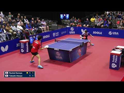 2018 US Open Table Tennis Championships - Mens SF - Ryohei Kanoya V Takeshi Atsuya (Highlights)