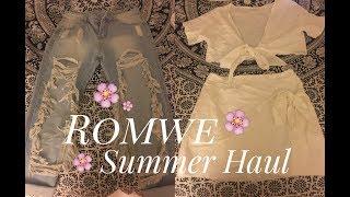 Romwe Summer Try-On Haul + Honest Review || Winter Anastasia