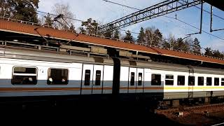 ЭД4М 0445 Фирменный Экспресс Рязань - Москва с платформы Отдых