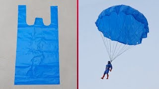 How to make a Parachute at home From plastic bag