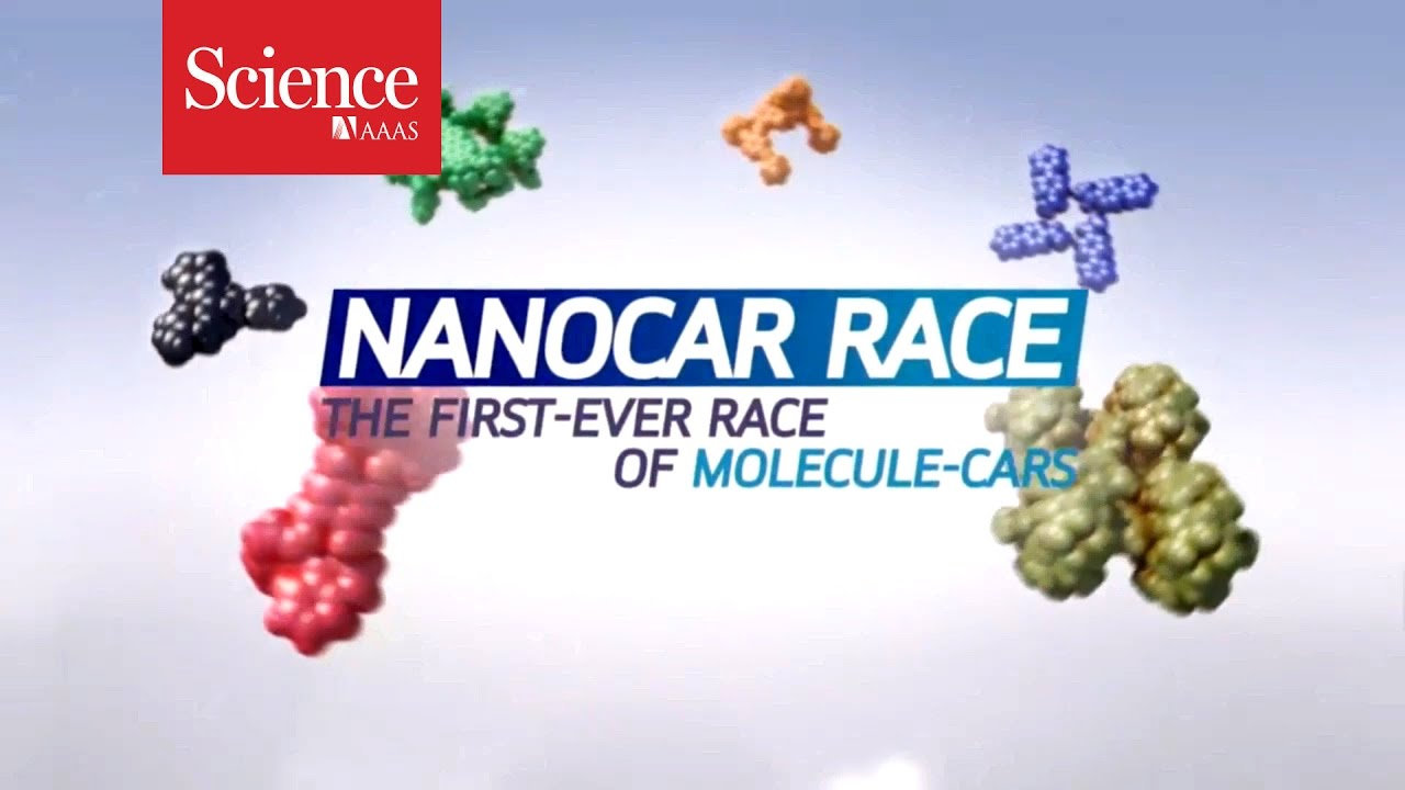In the nanocar race the world's smallest cars race along tracks thinner than a human hair