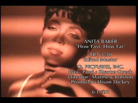 Anita Baker - How Fast, How Far (Anita only) (Official Music Video)