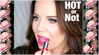 MAYBELLINE MATTE LIPSTICK COLLECTION (Try On + Swatches) | Hot or Not
