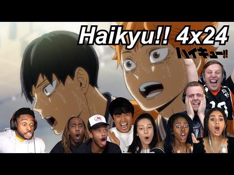 Download Haikyu!! 4x24 Reactions   Great Anime Reactors!!!   【ハイキュー!!】【海外の反応】
