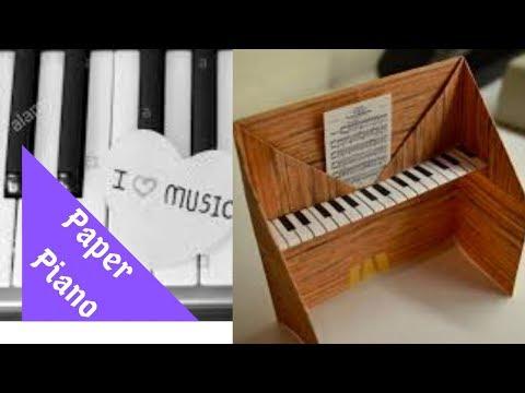 कागजको पीयानो बनाउने तरिका HOW TO MAKE A PAPER PIANO   EASY PAPER CRAFTS FOR KIDS   MAISON ZIZOU