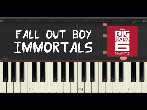 Fall Out Boy - Immortals - Piano Tutorial by Amadeus (Synthesia)