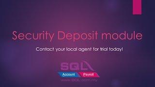 Security Deposit module