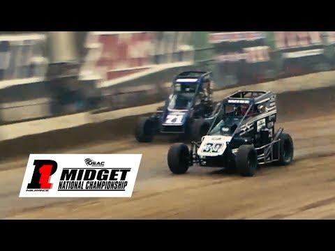 USAC P1 Insurance National Midget Highlights | Shamrock Classic 3.10.18