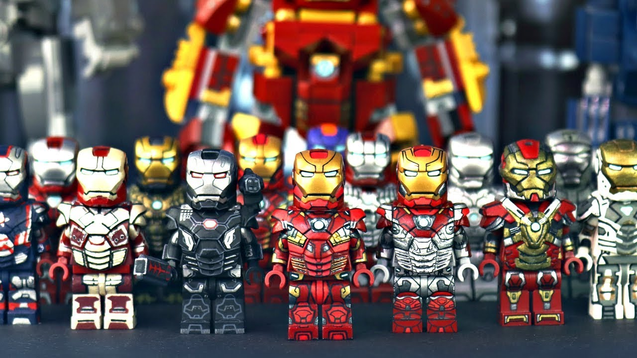 Custom LEGO IRON MAN Collection! (2018) - YouTube