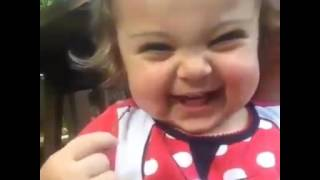 Cute baby funny video gif