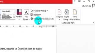 Microsoft Office Word Egitimi Bolum 6 Tasarım Menusu