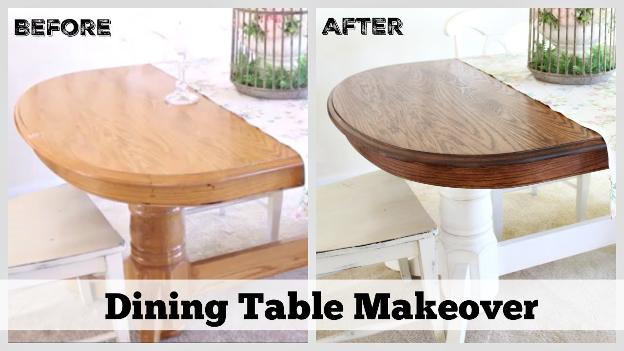 Dining Table Makeover How To Refinish A Table Youtube
