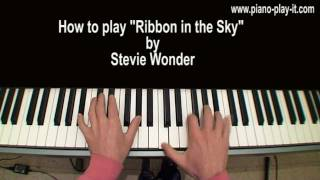Ribbon in the Sky Stevie Wonder Piano Tutorial
