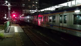 南海高野線 堺東駅6200系(6553編成)回送停車