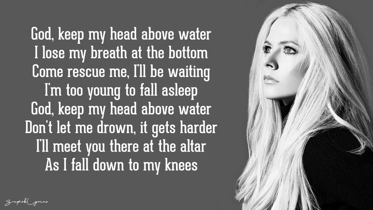 head above water avril lavigne  Avril Lavigne - Head Above Water (Lyrics) - YouTube